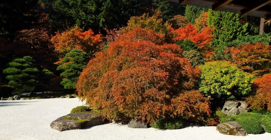 Rocks and sand are important players in the design of the Portland Japanese Garden.