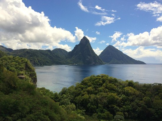 Anse Chastanet: View from property