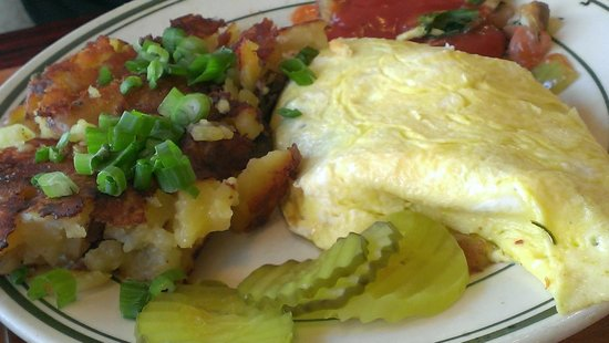 Joy of Eating Cafe : Veggie Omelet and Potatoes