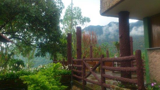 Wild Elephant Eco Friendly Resort : Misty hills in the backdrop