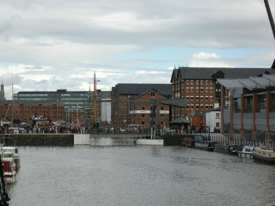 A view of Gloucester Docks form Sula Lightship