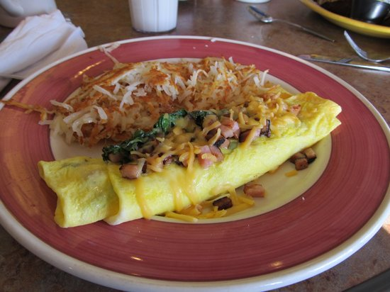 Perkins Family Restaurant and Bakery: Ham, cheese & spinach omelette