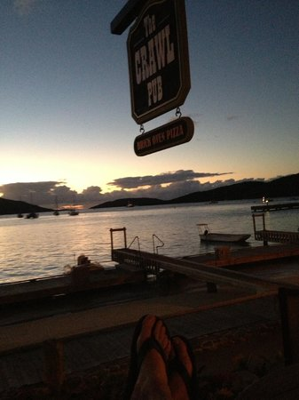 Bitter End Yacht Club: da crawl at sunset