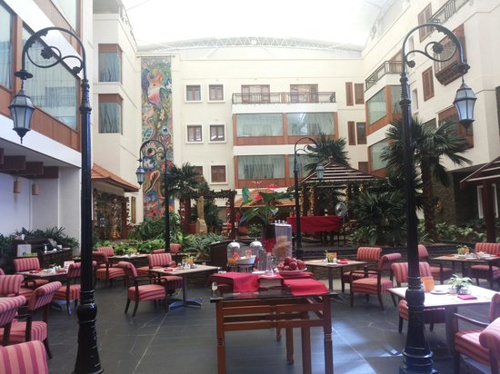 The Paul Bangalore : View of Lobby and the Side-Walk Restaurant