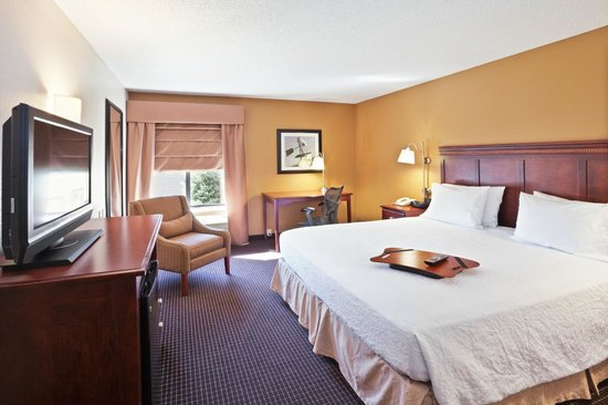 "Hampton Inn Sioux Falls: Accessible King bed, refrigerator, microwave, coffee maker and 32"" HDTV"