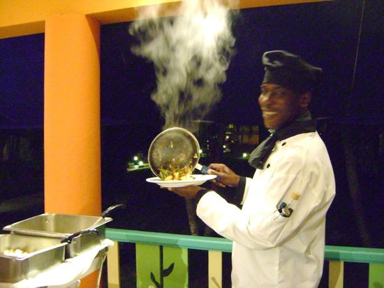 Grand Pineapple Beach Negril: Mouth-watering dish made by the chef!