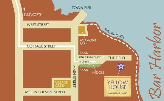 Yellow House Bed & Breakfast: Yellow House Map.