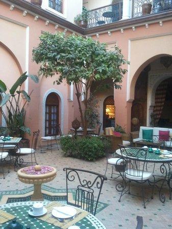 Riad Amina: le patio pour le dîner