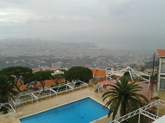 Al Bustan Hotel & Spa: Grey day over Beirut