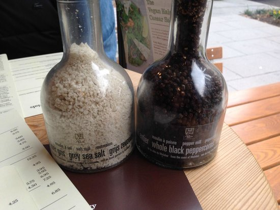 Le Pain Quotidien: Yummy Salts and Peppers available for purchase