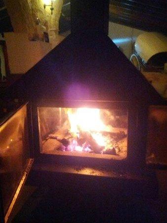 Matchani Gran: estufa en la sala común, muy caliente y agradable