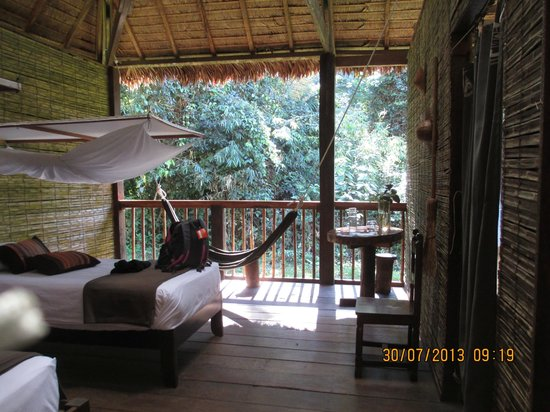 Posada Amazonas : This was our 3 walled room.