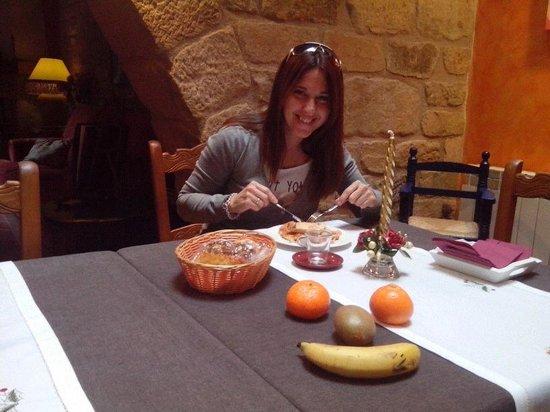 Casa del Infanzon : desayuno delicioso y tipico de allí