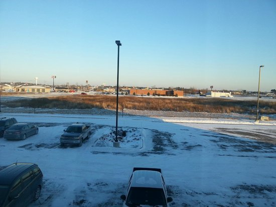 Hampton Inn Tomah: Out the window in -7 degree weather