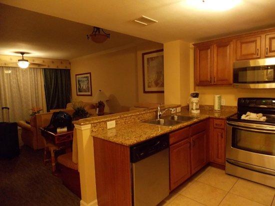 Westgate Myrtle Beach Oceanfront Resort: cozinha e sala