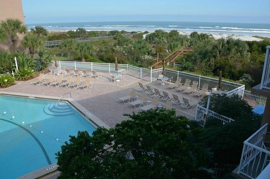 The Beach Club at St Augustine: A view from the bedroom balcony (3rd floor)