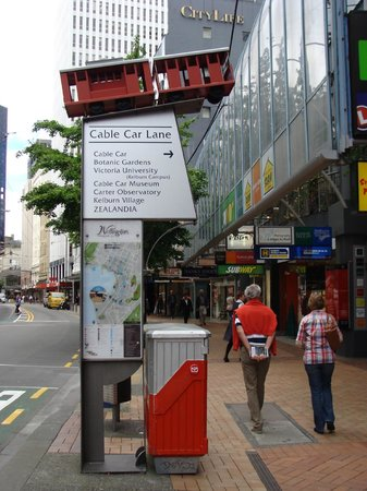 Wellington Cable Car: The sign