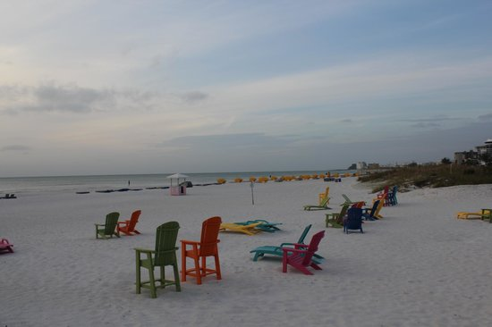 Plaza Beach Hotel - Beachfront Resort: Beach with colorful chairs