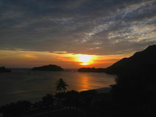 The Danna Langkawi, Malaysia: Sunset from the balcony of the Grand Viceroy