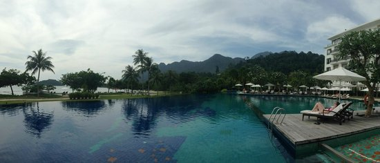 The Danna Langkawi, Malaysia: view from the pool