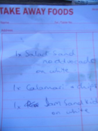 E G Waterhouse National Camellia Gardens: Reciept