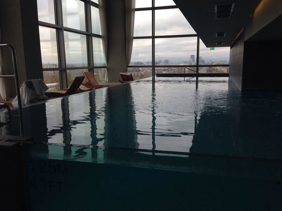 DoubleTree by Hilton Hotel Zagreb: The infinity pool in the hotel's gym/spa