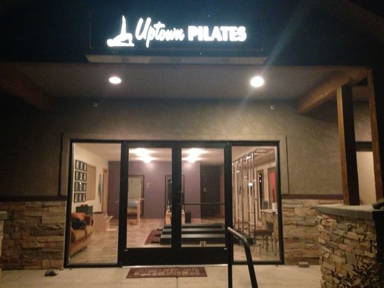 Front of Uptown Pilates taken in the evening.