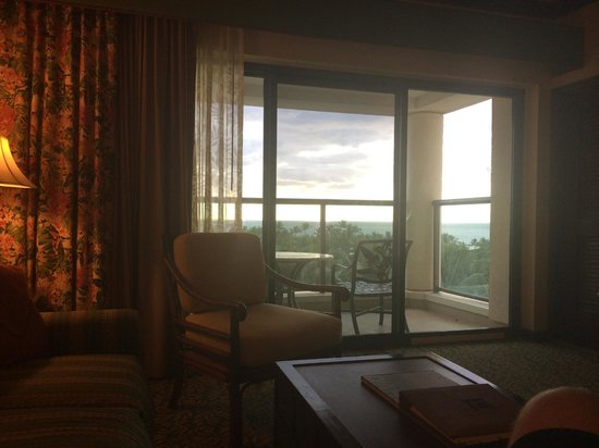 Marriott's Ko Olina Beach Club: View out from the living room on the 7th floor