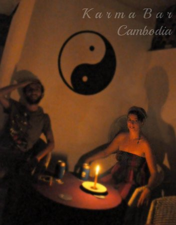 Karma Bar: Even during the occasional Cambodian power cut, Karma keeps you well lit and watered :)