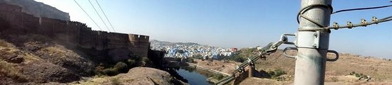 Flying Fox Jodhpur: View of Blue city from Flying fox