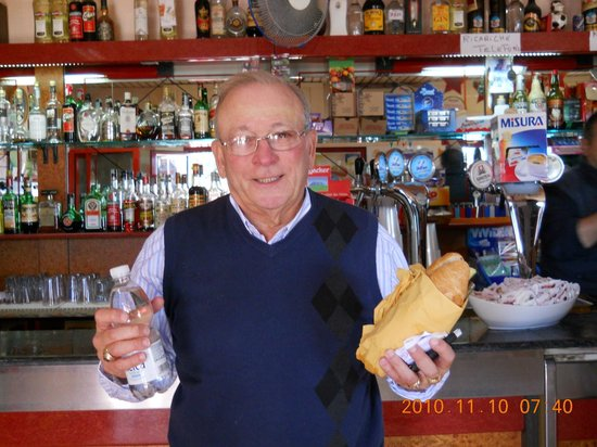 Dino's Hotel: PHOTO OF MY HUSBANDS UNCLE MIKE ARCURE ENJOYING A TASTY PROSCIUTTO SANDWICH.TY