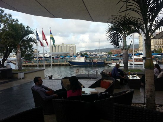 Le Suffren Hotel & Marina : Outside View from the bar downstairs