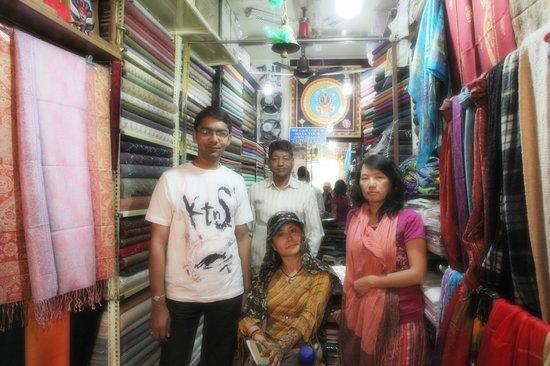 Kaali Kalyan Handicrafts / Textiles: with  friends  in  Kaali Kalyan Handicrafts    shop