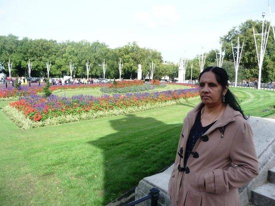 Buckingham Palace: garden view