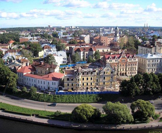 Vyborg Castle: Вид сверху на Выборг