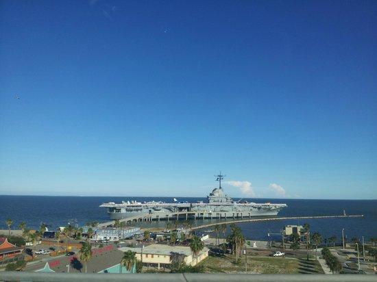 Radisson Hotel Corpus Christi Beach: The USS Lexington Navy Ship (from my room)