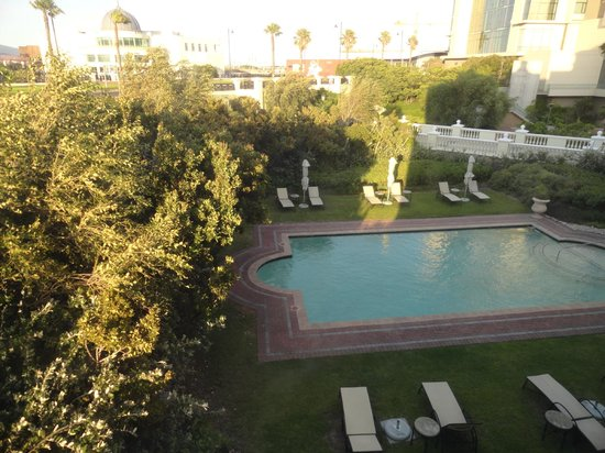 StayEasy Century City: The pool area as seen from our room