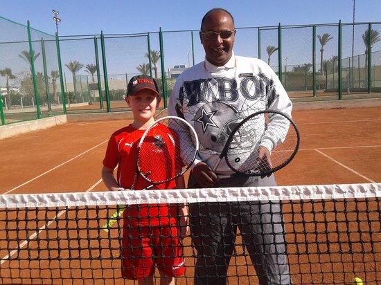 SOHO Tennis & Squash center: en suverän tränare