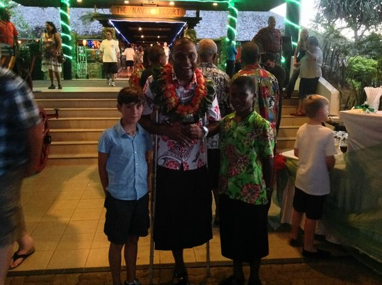 Naviti Resort: Xmas light ceremony at Naviti's foyer