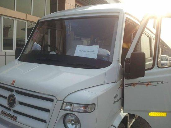 Muziris Heritage - Day Tours: our fleet- 10 seater