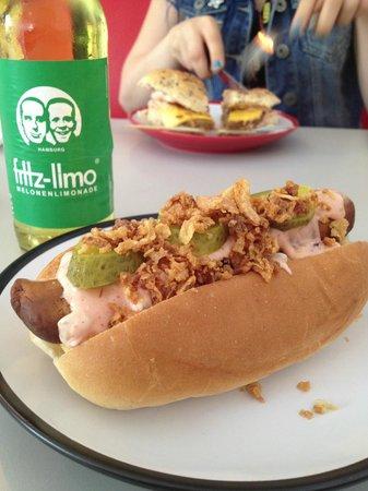 "V Rev Vegan Diner: ""Hamdog"""