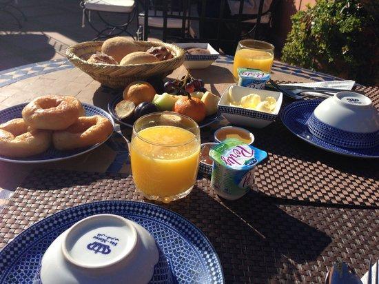Riad Al Rimal: Petit déjeuner