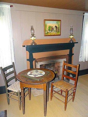 Horne Creek Living Historical Farm : game table in bedroom
