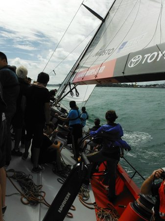 America's Cup Sail Experience: Gaining Speed