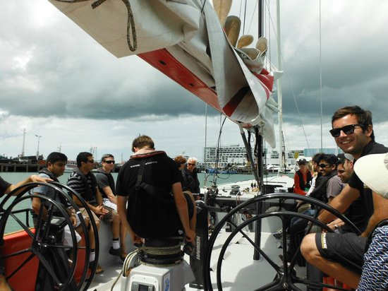 America's Cup Sail Experience: Leaving the Viaduct Precinct