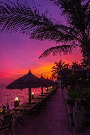 Lotus Village Resort : nice sunset