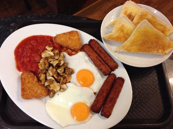 The Rumblin Tum Cafe : Vegetarian breakfast & Rumblin Tum cafe Otley