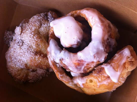 Coffee & A Specialty Bakery: Gluten Free Cinnamon Roll and Almond Croissant
