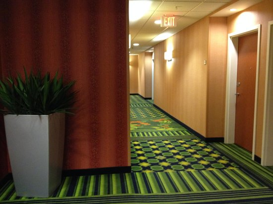 Fairfield Inn & Suites Muskogee: Hallway view from elevators