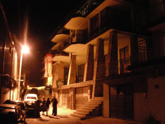 Eco Hostel Republik: Outside night view of the Eco hostel Republic Uzice Serbia !!!